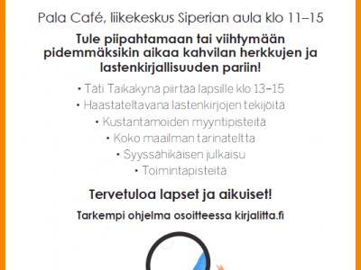 Lastenkirjakahvila Kirjalitassa lauantaina 11.11. klo 11-15